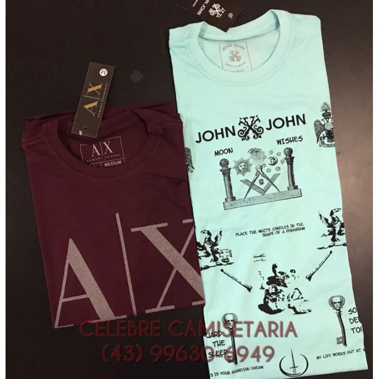 Kit Atacado/Revenda 10 peças Camisetas Masculinas Manga Curta